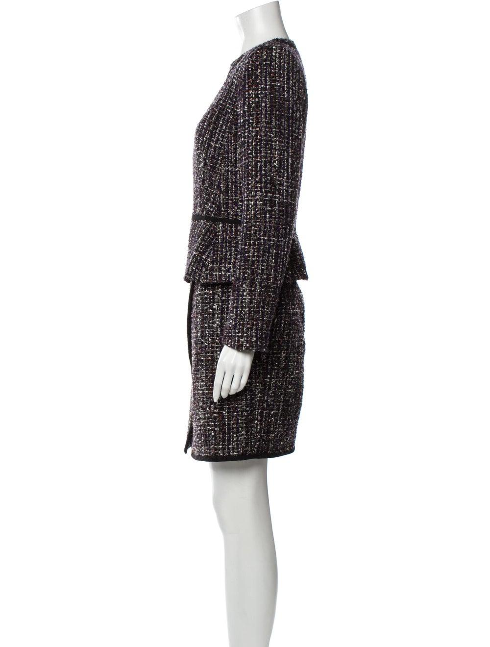 Calvin Klein Tweed Pattern Skirt Set w/ Tags Black - image 2