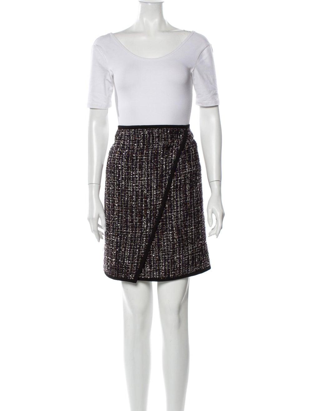 Calvin Klein Tweed Pattern Skirt Set w/ Tags Black - image 4