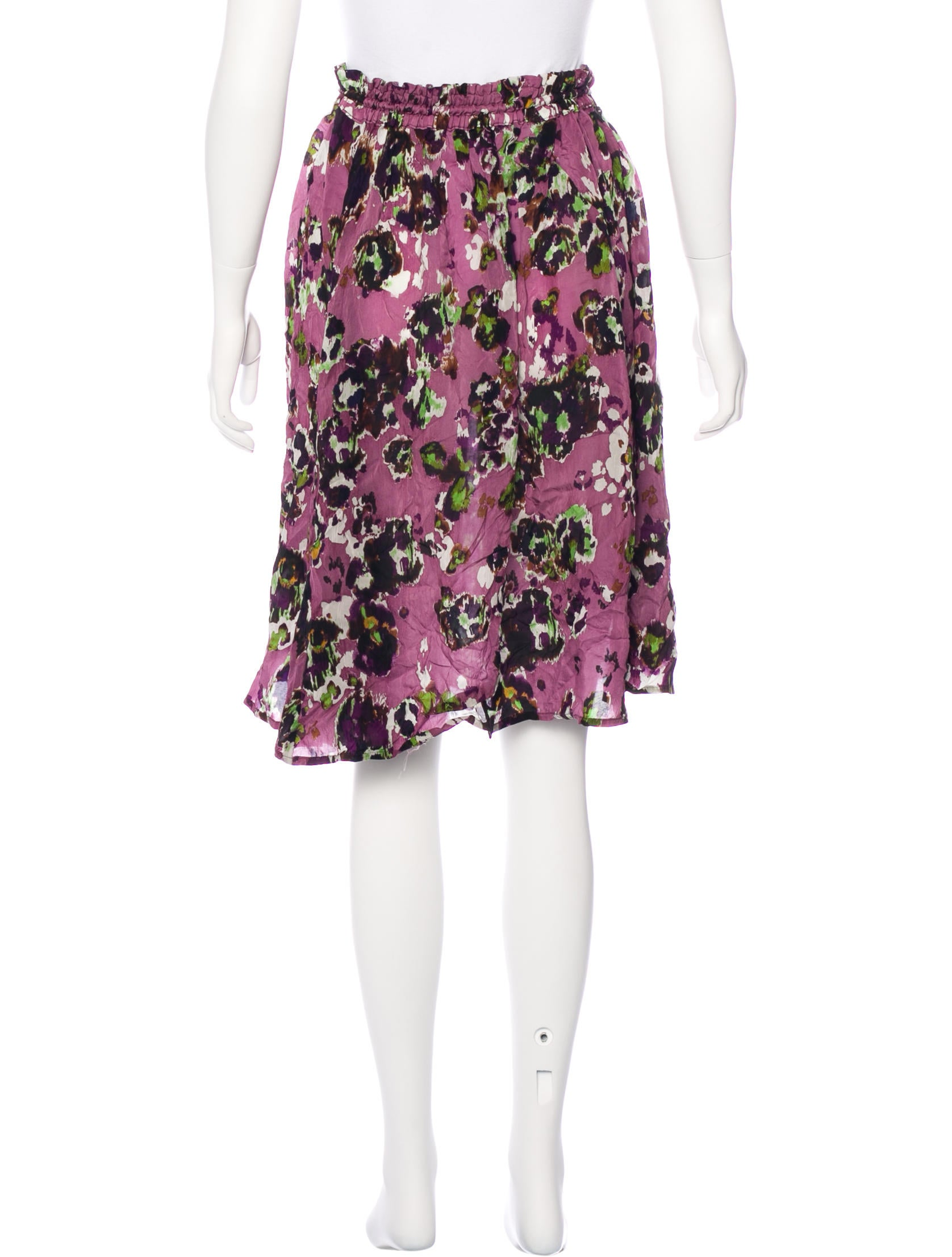 y s yohji yamamoto floral print knee length skirt w tags
