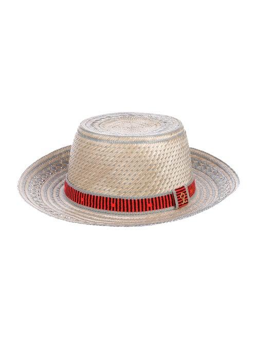 Yosuzi Raffia Sun Hat Grey