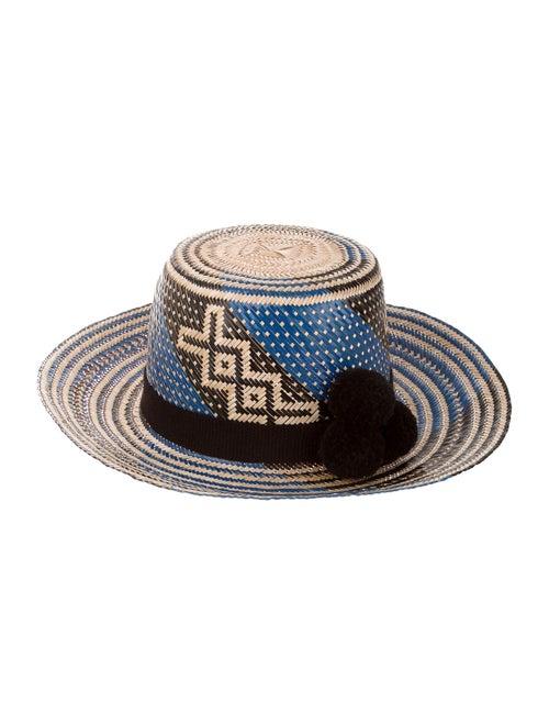 Yosuzi Raffia Fedora Hat Tan