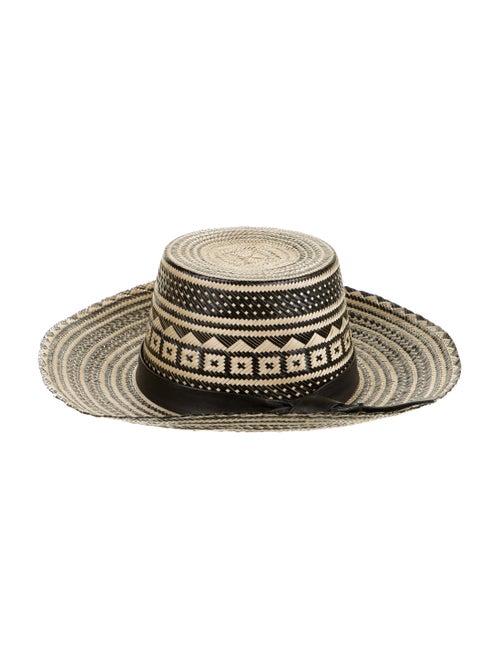 Yosuzi Straw Wide-Brim Hat Tan - image 1