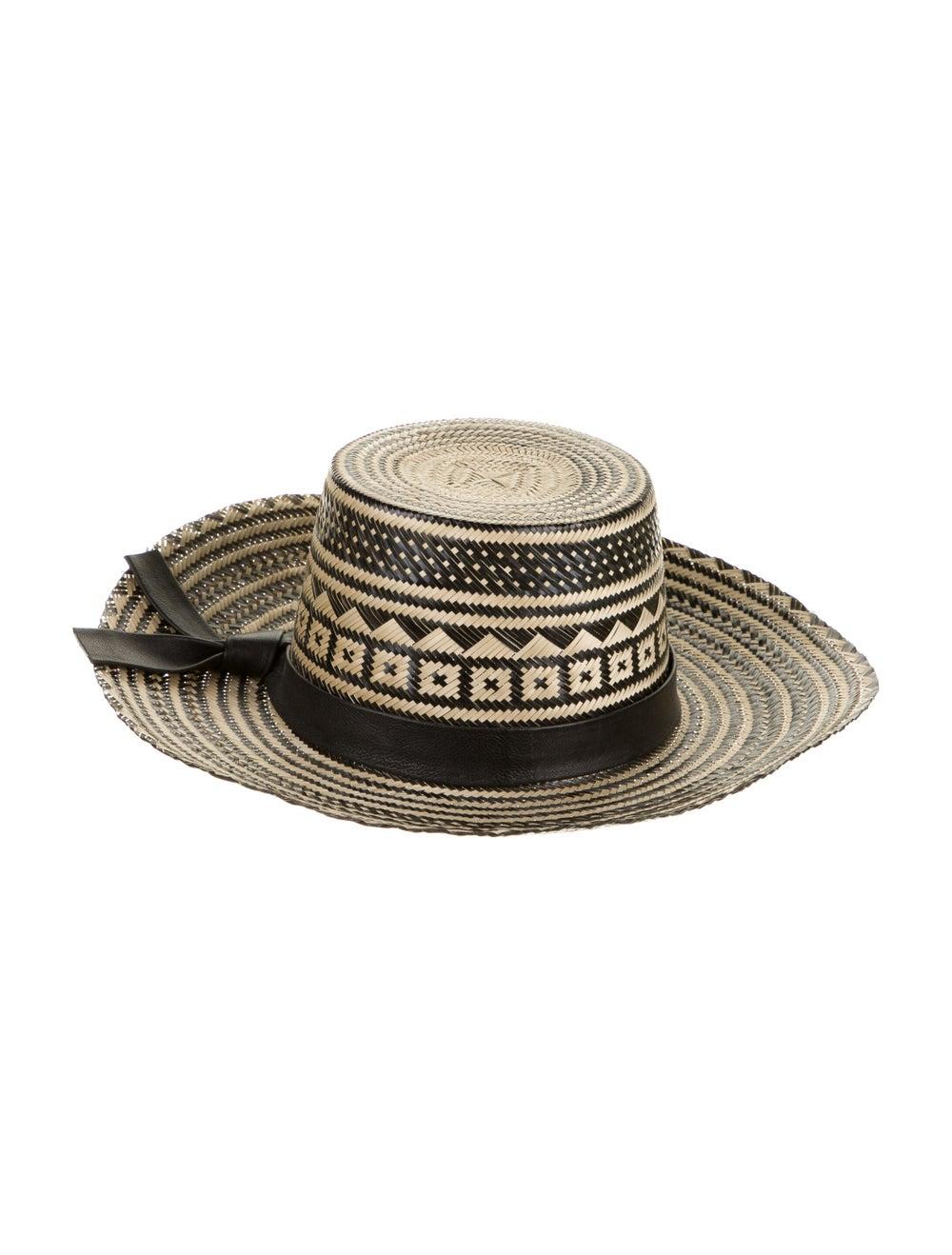 Yosuzi Straw Wide-Brim Hat Tan - image 2