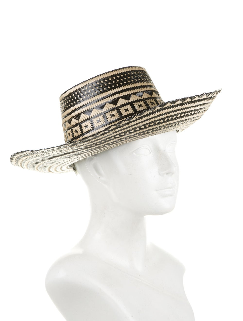 Yosuzi Straw Wide-Brim Hat Tan - image 3