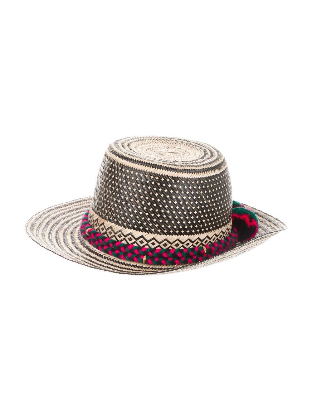 Yosuzi Straw Wide Brim Hat Tan - image 1