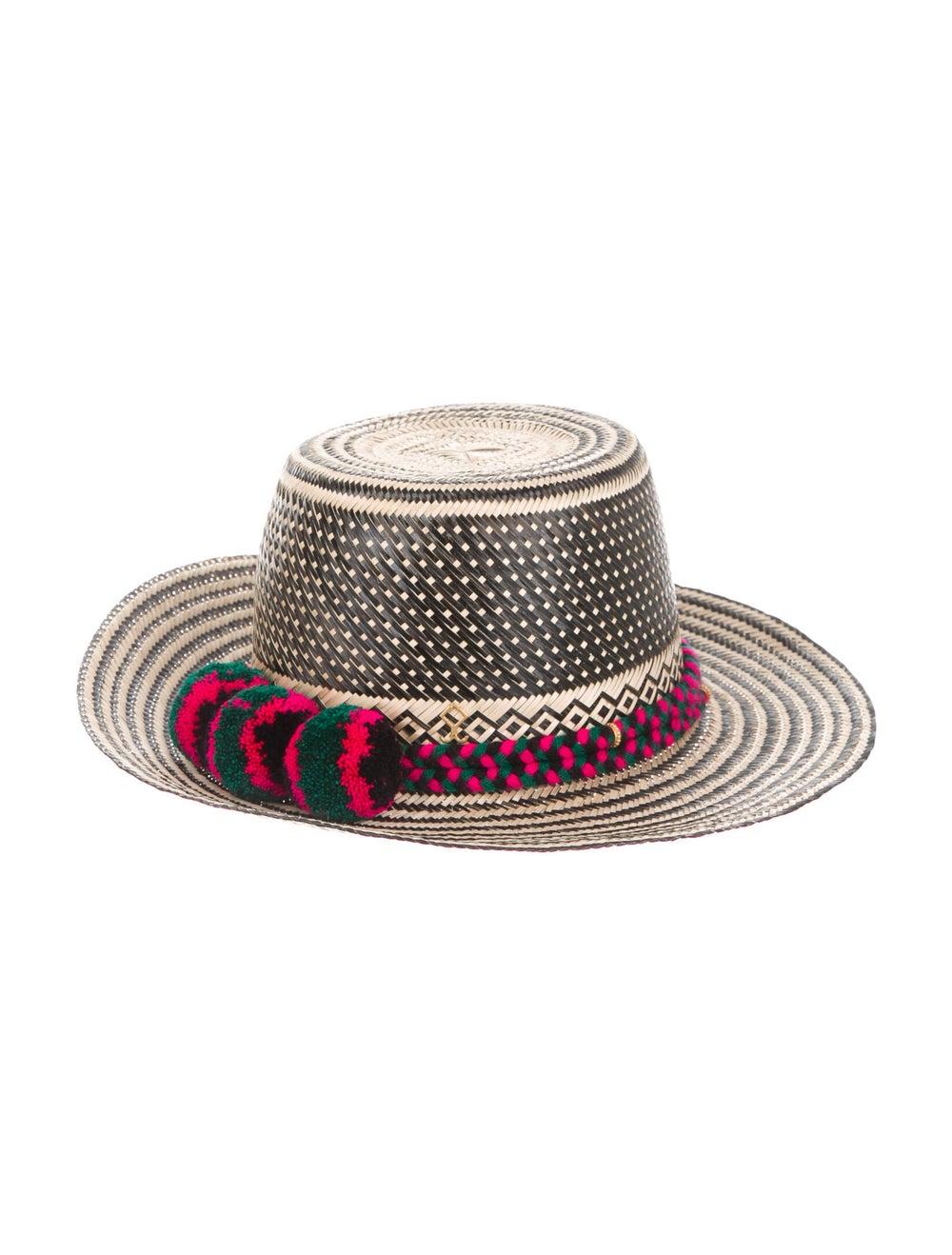 Yosuzi Straw Wide Brim Hat Tan - image 2