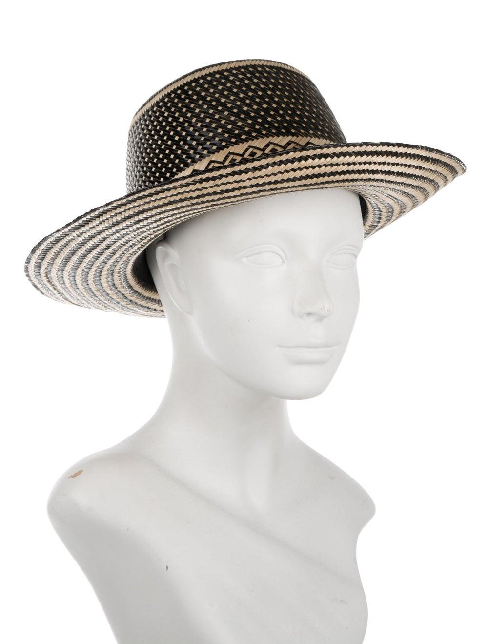 Yosuzi Straw Wide Brim Hat Tan - image 3