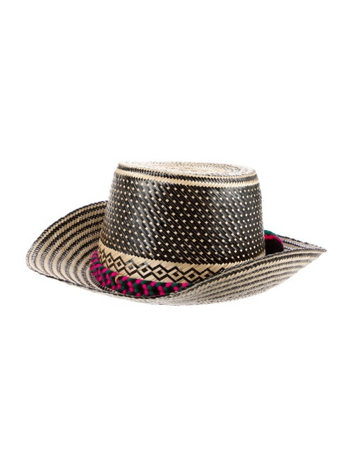 Yosuzi Wide Brim Straw Hat Beige - image 1