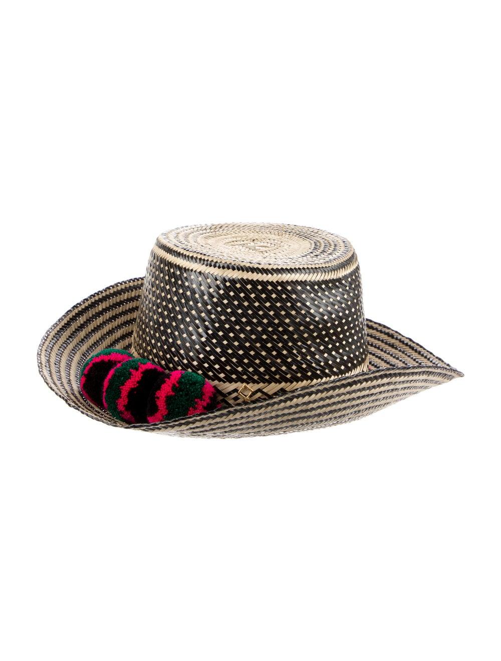 Yosuzi Wide Brim Straw Hat Beige - image 2