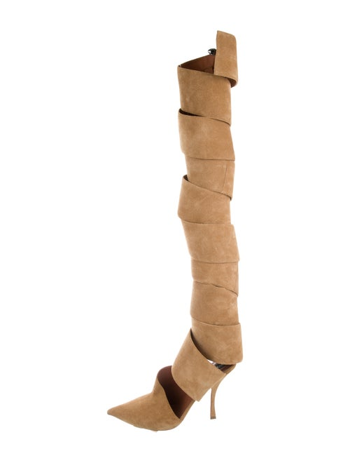 Y/Project 2018 Spiral 115 Boots Tan
