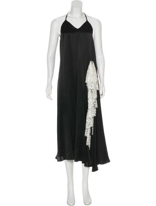 Y/Project Silk Maxi Dress Black