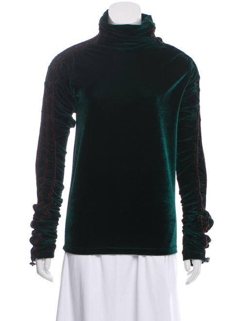 Y/Project Turtleneck Long Sleeve Top Green