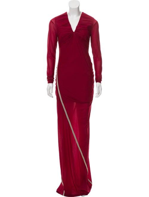 Y/Project Plunge Neckline Long Dress