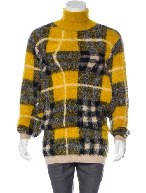 Y/Project Plaid Turtleneck Sweater yellow