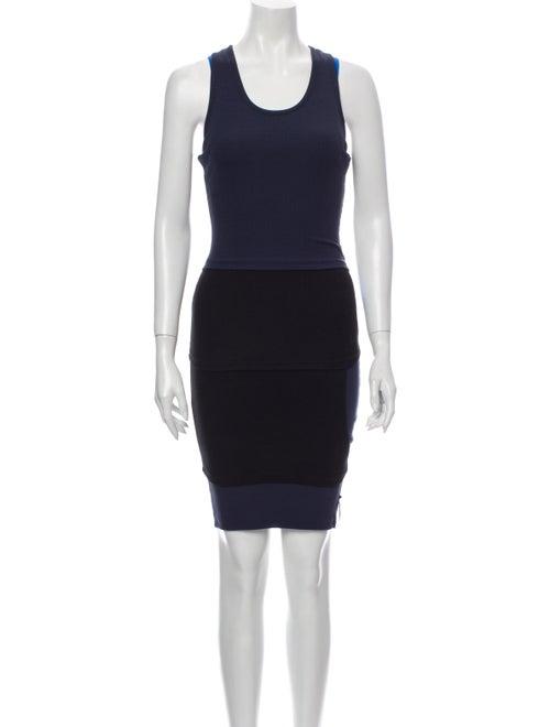 Y/Project Colorblock Pattern Mini Dress w/ Tags Bl