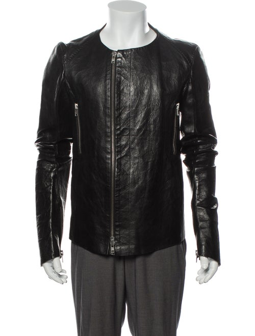 Y/Project Leather Jacket Black
