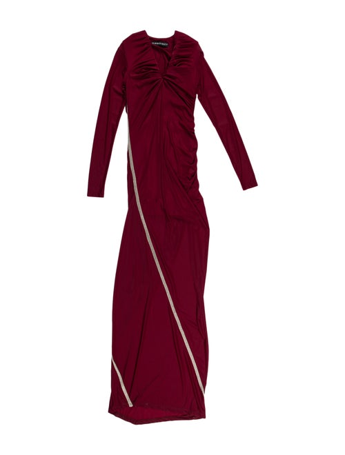 Y/Project Mock Neck Long Dress Metallic - image 1