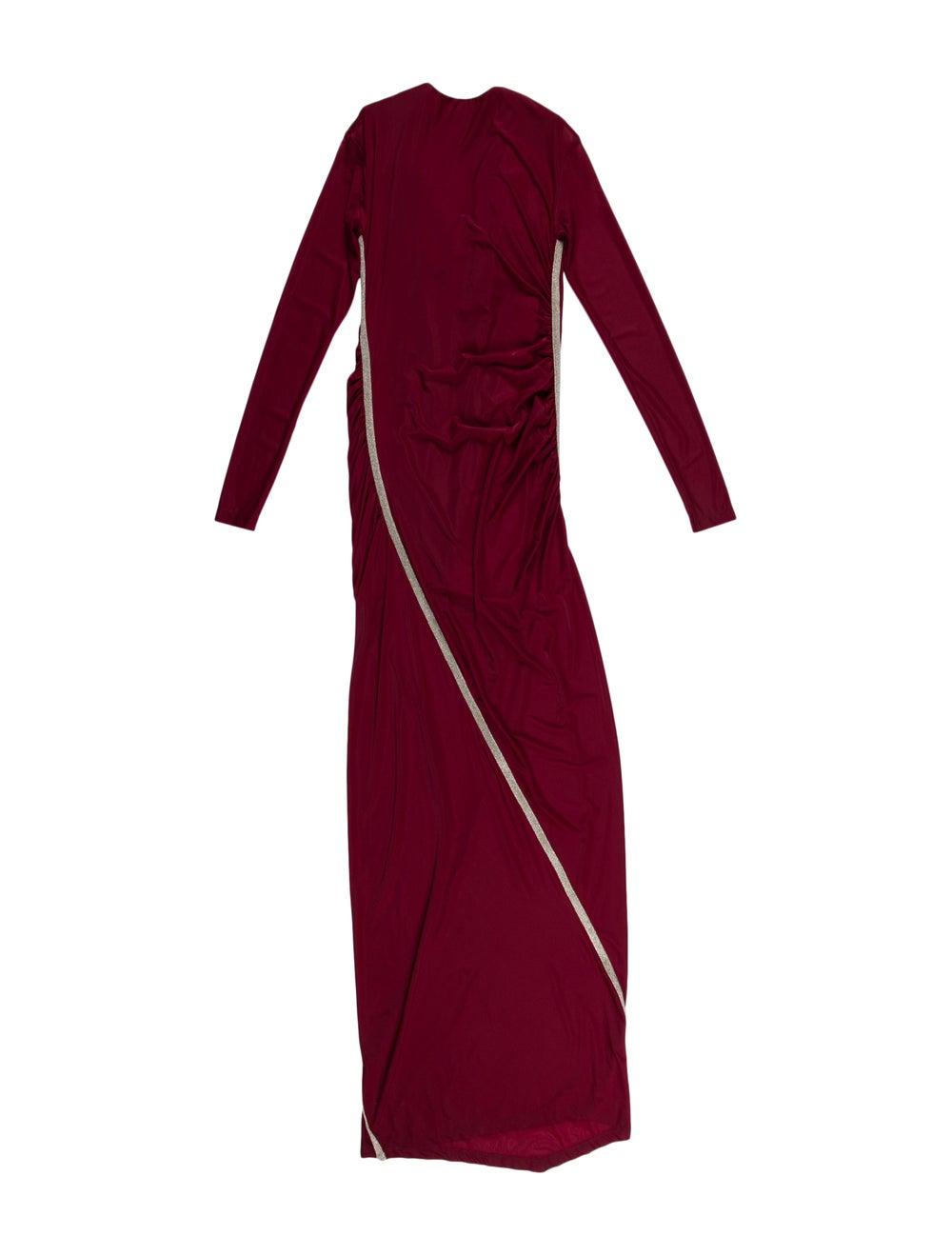 Y/Project Mock Neck Long Dress Metallic - image 2