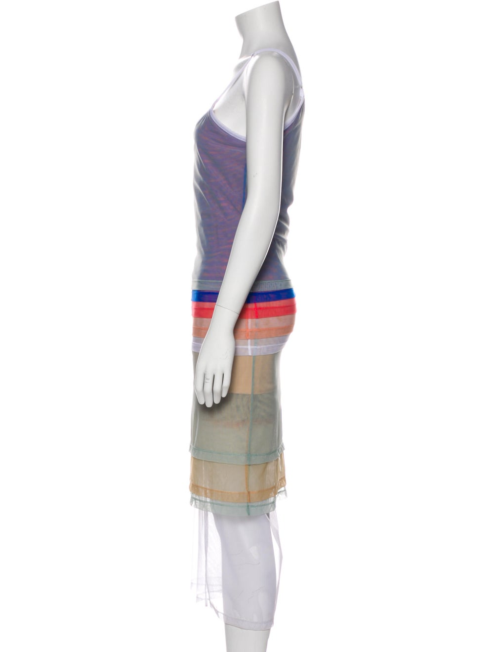 Y/Project Striped Long Dress Blue - image 2
