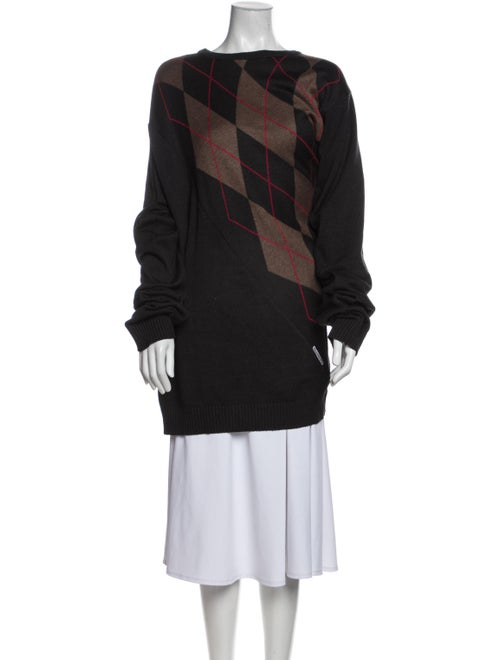 Y/Project Striped Bateau Neckline Sweater Black - image 1