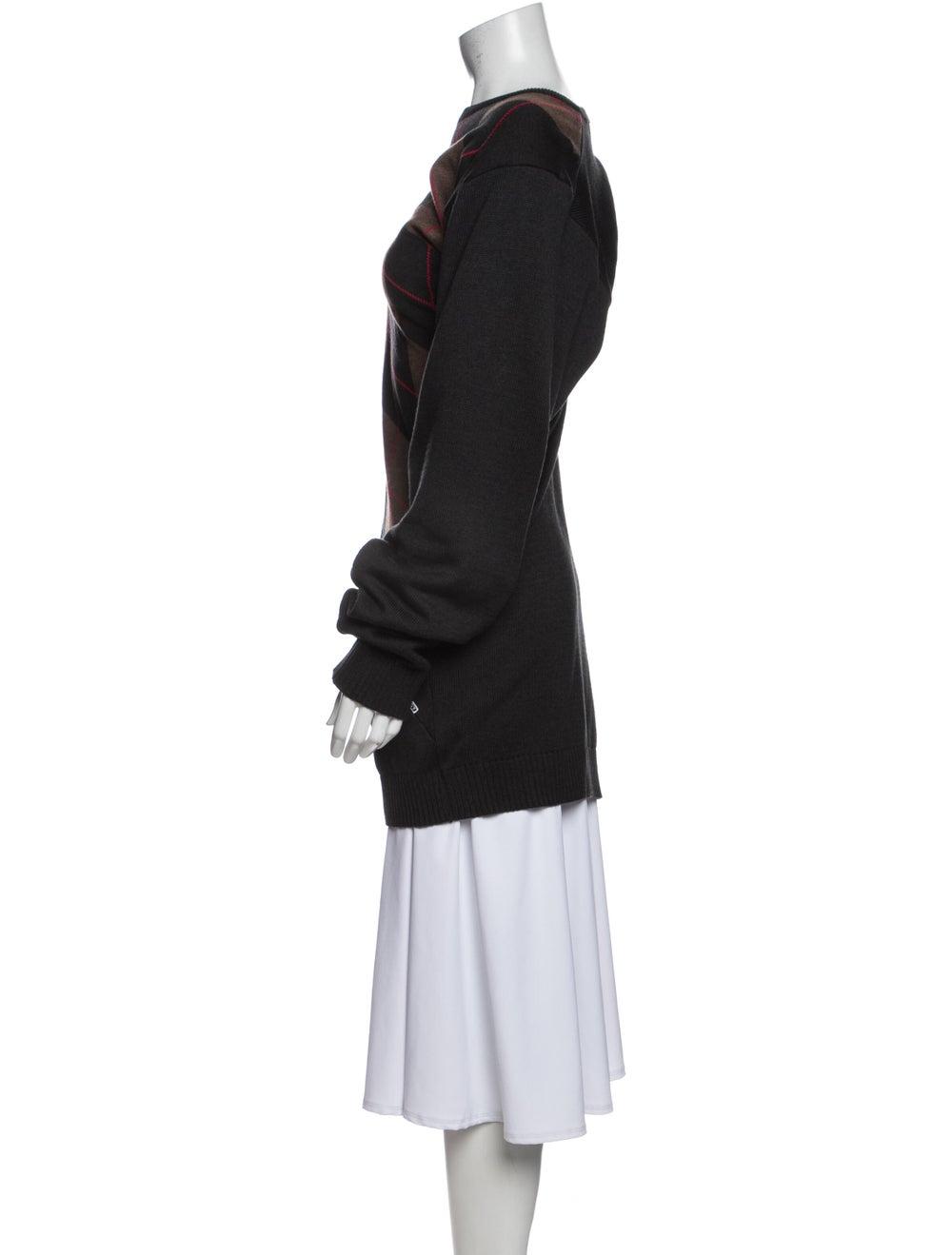 Y/Project Striped Bateau Neckline Sweater Black - image 2