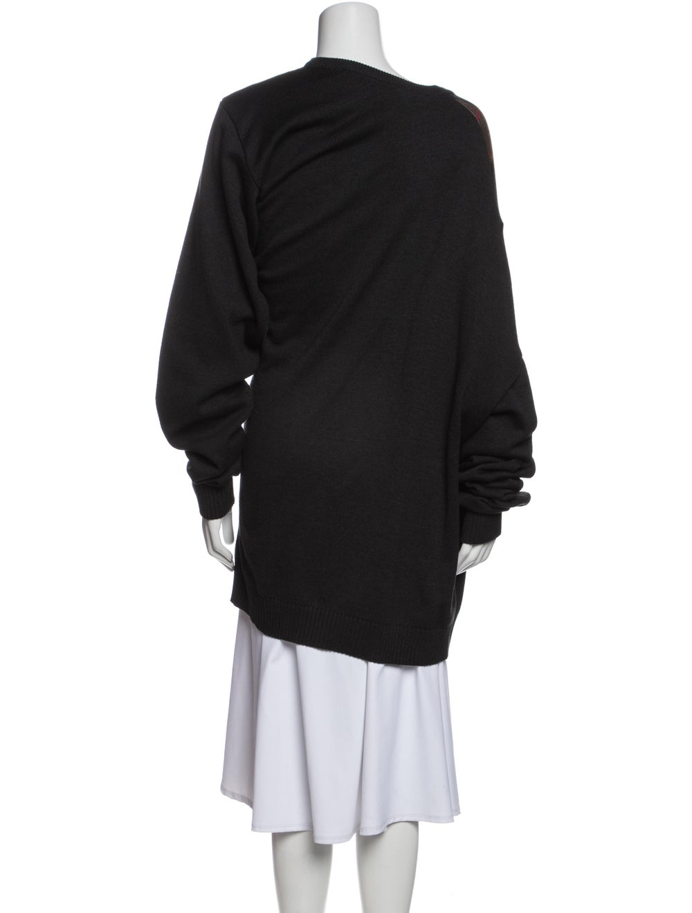 Y/Project Striped Bateau Neckline Sweater Black - image 3