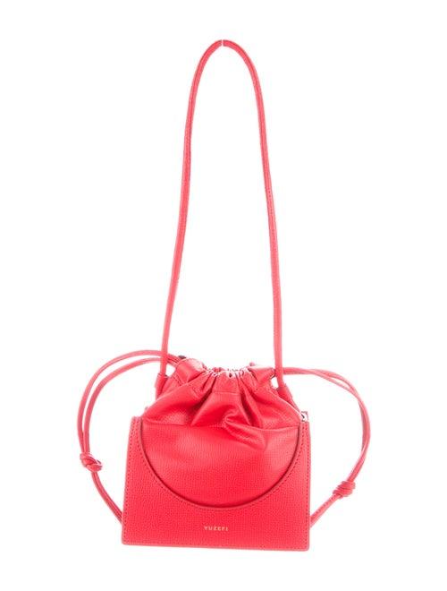 yuzefi Leather Bucket Bag Red