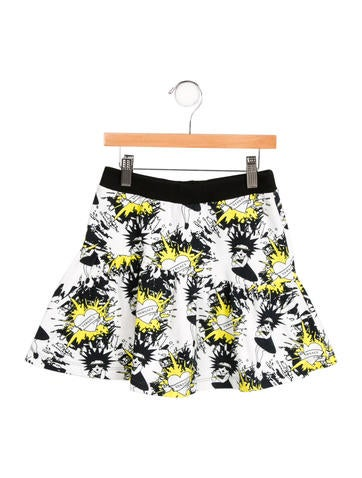 Young Versace Girls' Printed Knit Skirt w/ Tags None