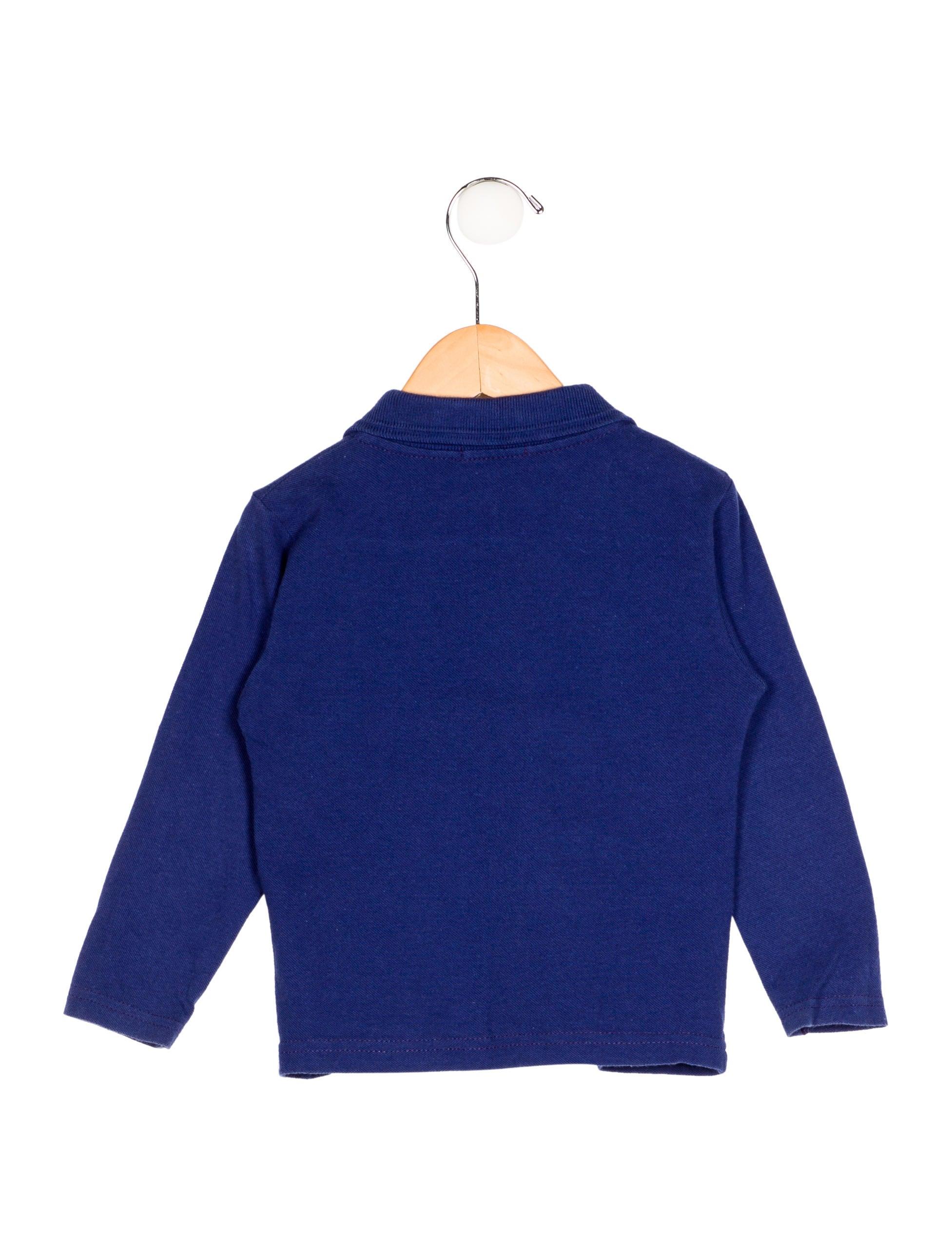 Young versace boys 39 long sleeve polo shirt boys for Long sleeved polo shirts for boys