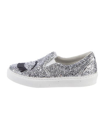 Chiara Ferragni Glitter Appliqué Sneakers cheap sale best sale with mastercard online 2014 for sale WAikuRRk