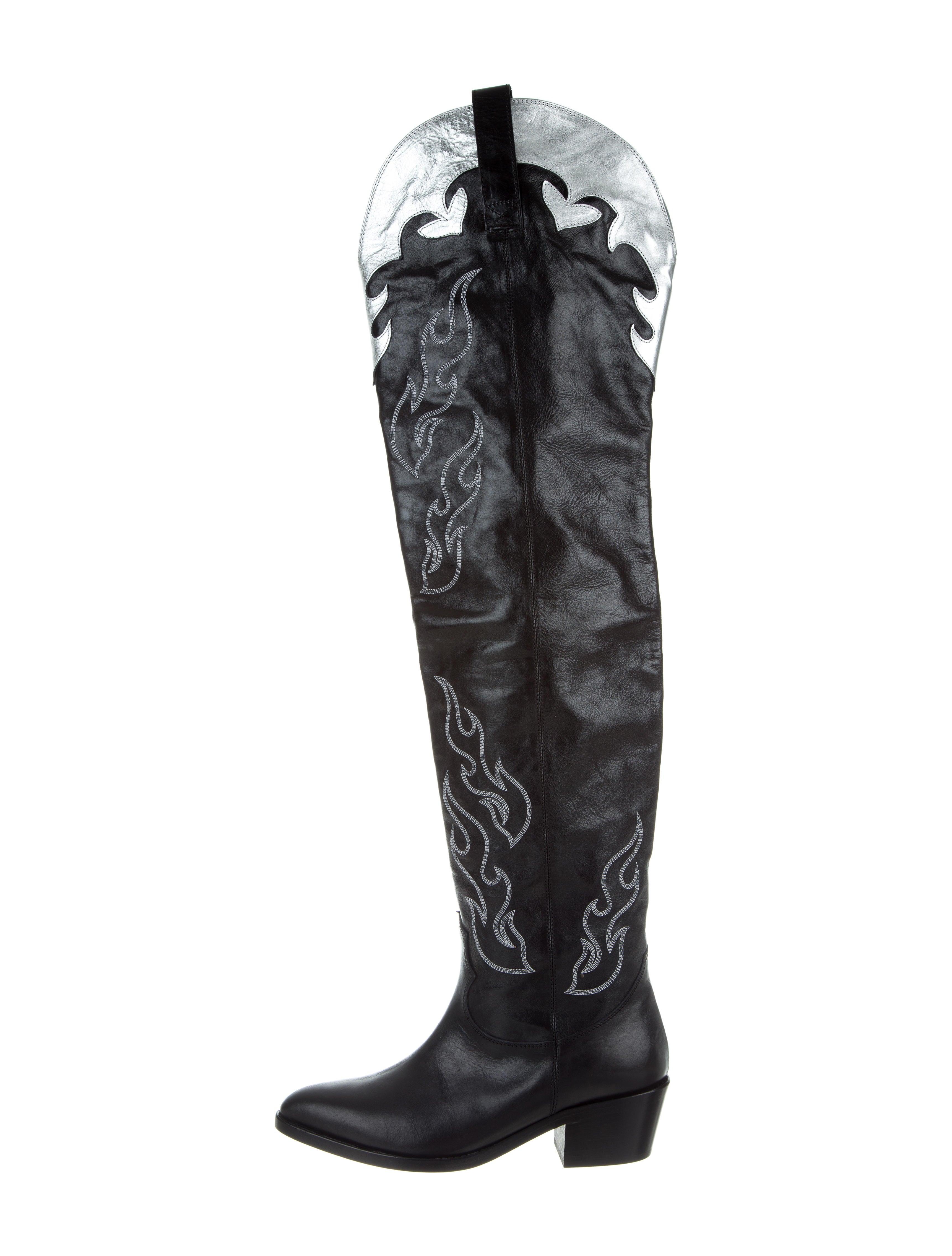 Chiara Ferragni Thigh High Cowboy Boots W Tags Shoes