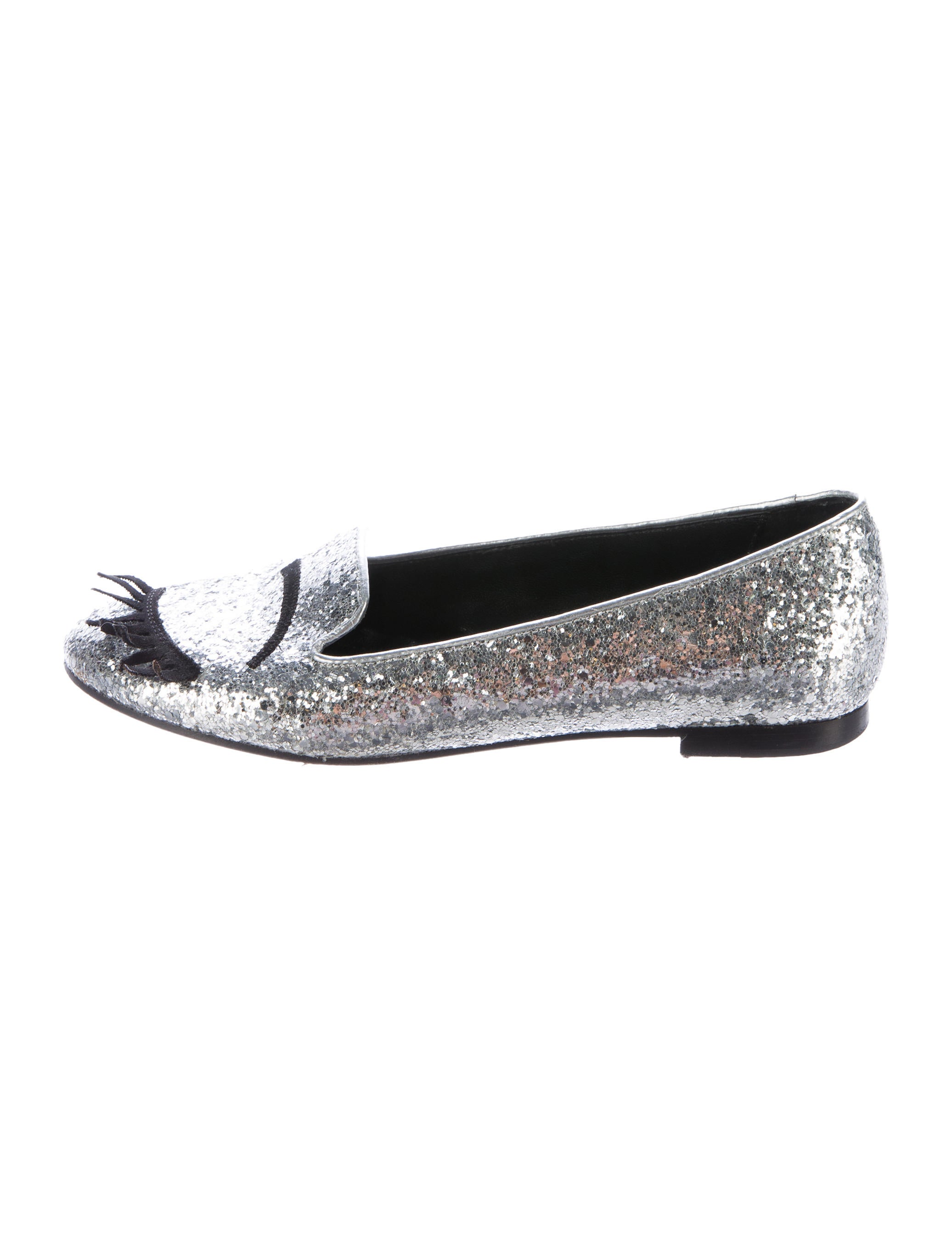 chiara ferragni glitter embellished loafers shoes wyx20088 the realreal. Black Bedroom Furniture Sets. Home Design Ideas