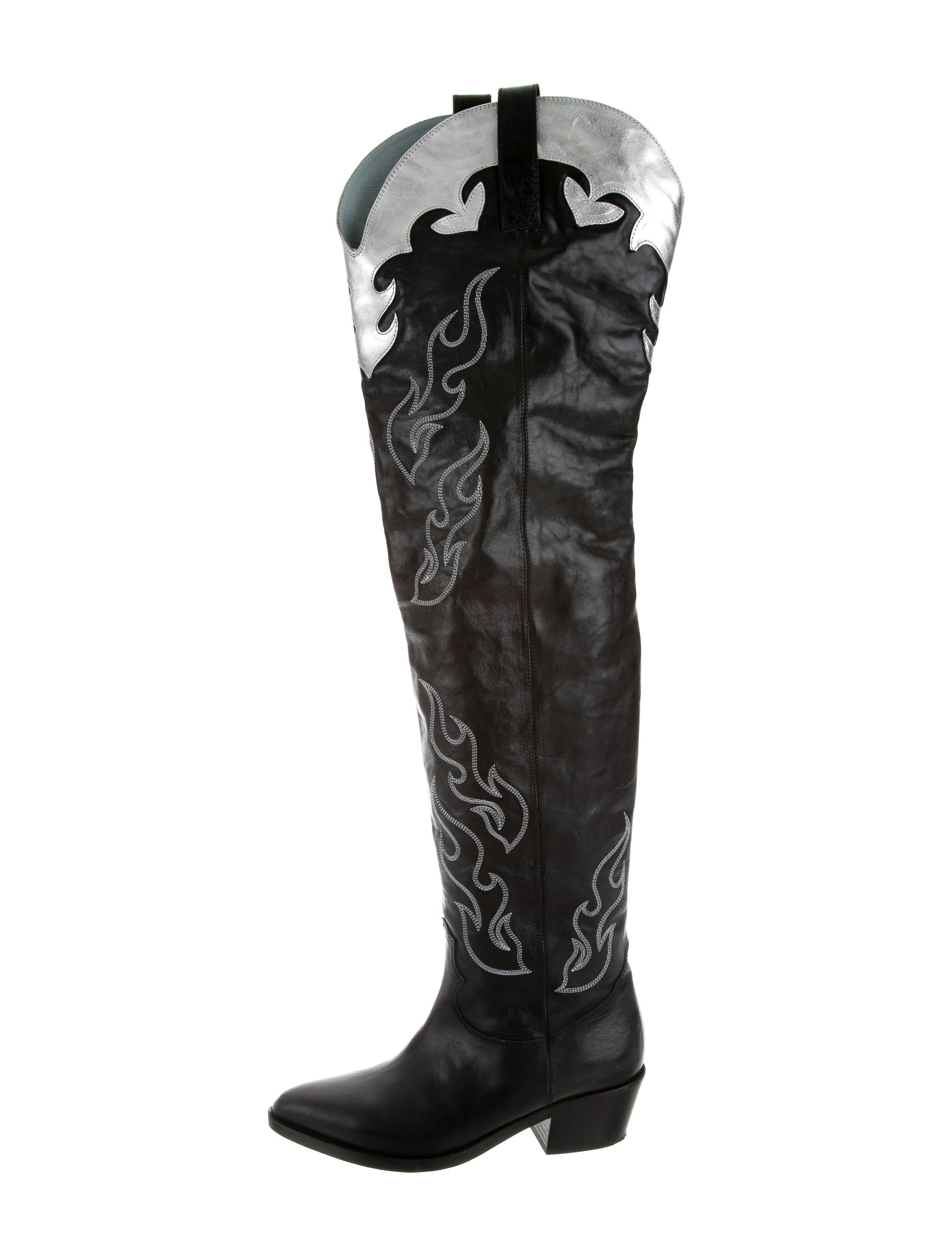 4f92f1d31ab Chiara Ferragni Over-The-Knee Cowgirl Boots - Shoes - WYX20111