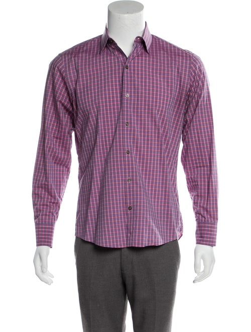 Zachary Prell Woven Gingham Shirt pink