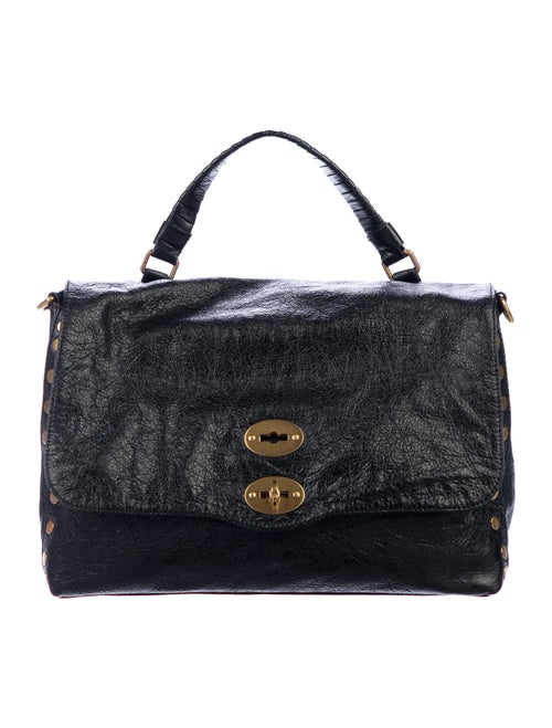 Zanellato Leather Postina Crossbody Bag Black