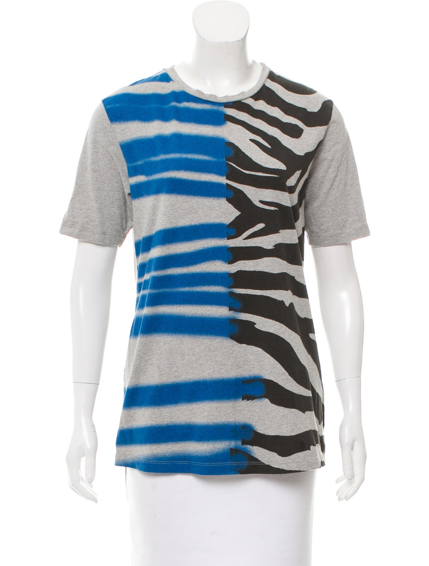 Tre c cile printed crew neck t shirt clothing for Collar t shirt printing