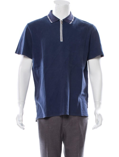 Zegna Sport Short Sleeve Polo Shirt navy
