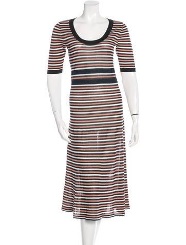 Ganni Metallic Knit Dress None