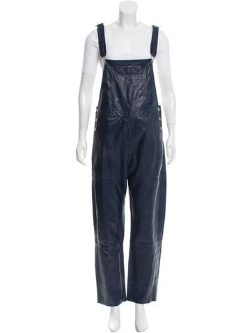 Ganni Leather Sleeveless Jumpsuit w/ Tags None