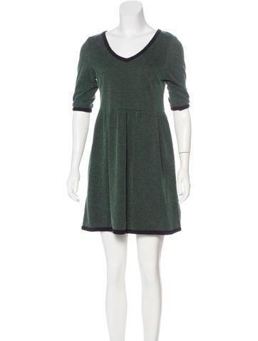 Ganni Rib Knit Mini Dres None