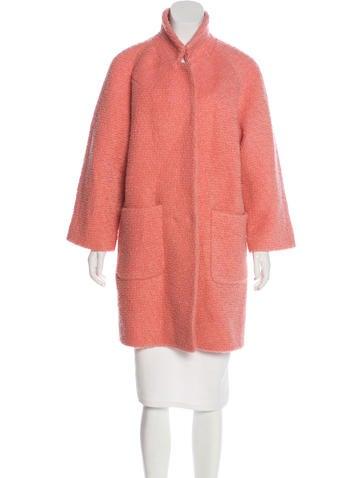 Ganni Wool-Blend Teddy Coat None