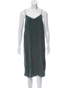 614561c38805 Ganni. Silk Striped Dress
