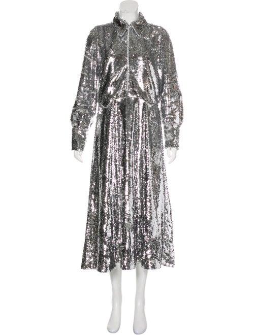 Ganni Long Dress Grey