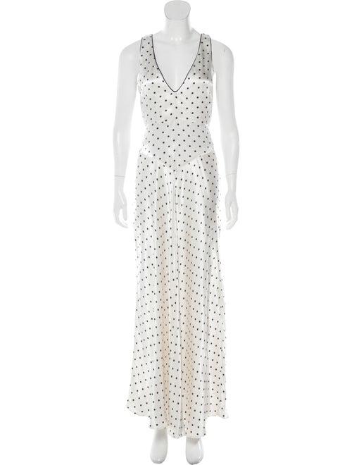 Ganni Polka Dot Print Long Dress