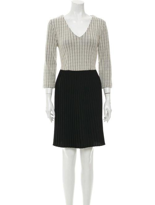 Ganni Colorblock Pattern Mini Dress Black