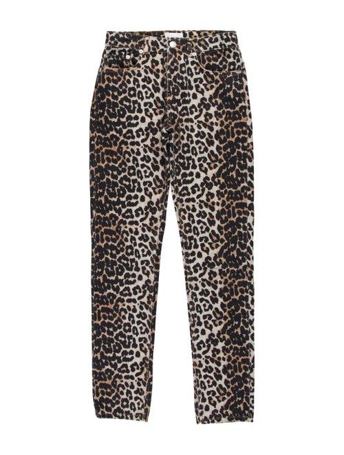 Ganni Mid-Rise Straight Leg Jeans