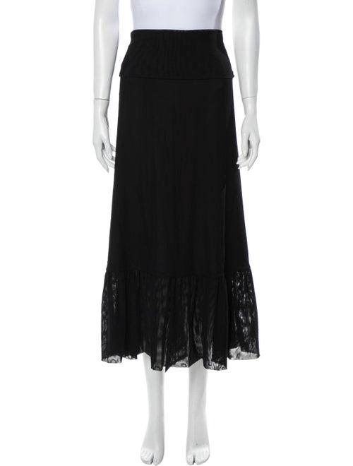 Ganni Midi Length Skirt Black