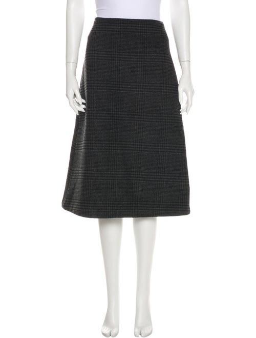 Ganni Wool Knee-Length Skirt Wool
