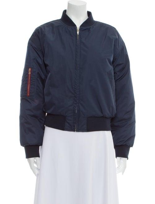 Ganni Bomber Jacket Blue