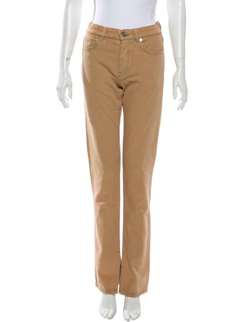 Ganni Mid-Rise Straight Leg Jeans w/ Tags Brown